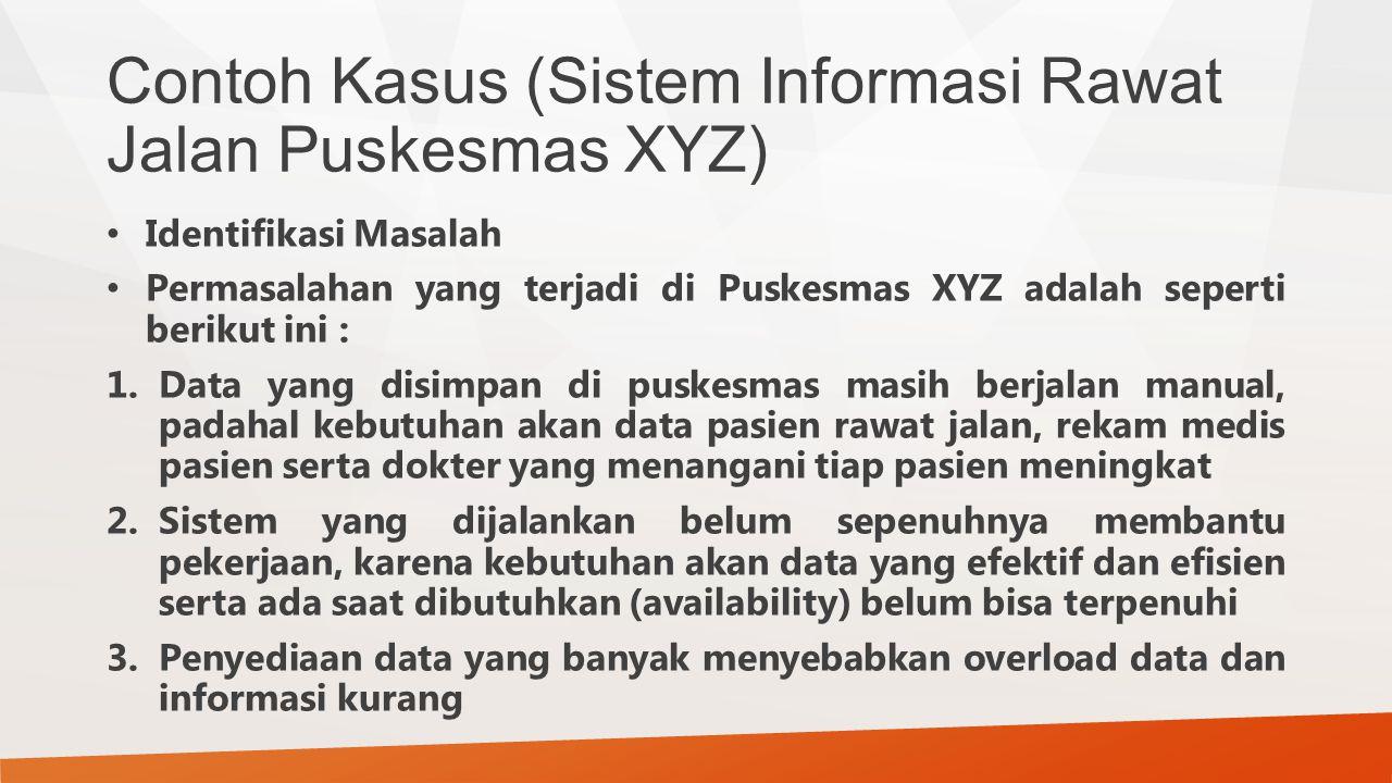Contoh Kasus (Sistem Informasi Rawat Jalan Puskesmas XYZ)
