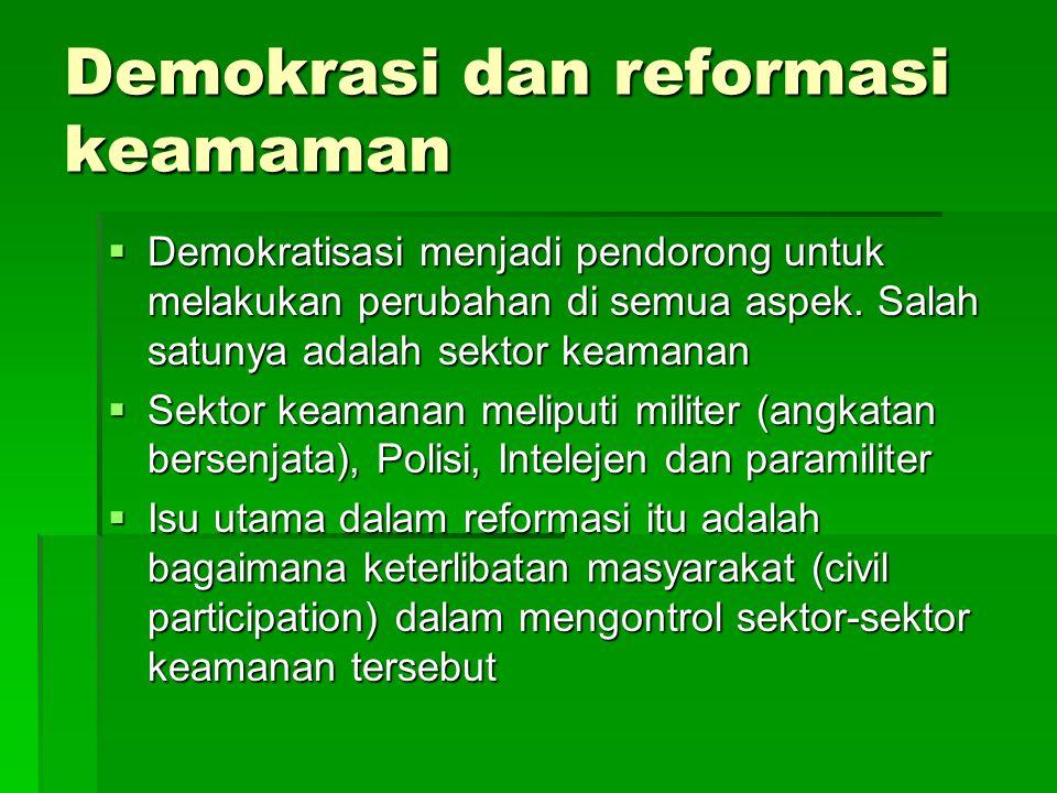 Demokrasi dan reformasi keamaman