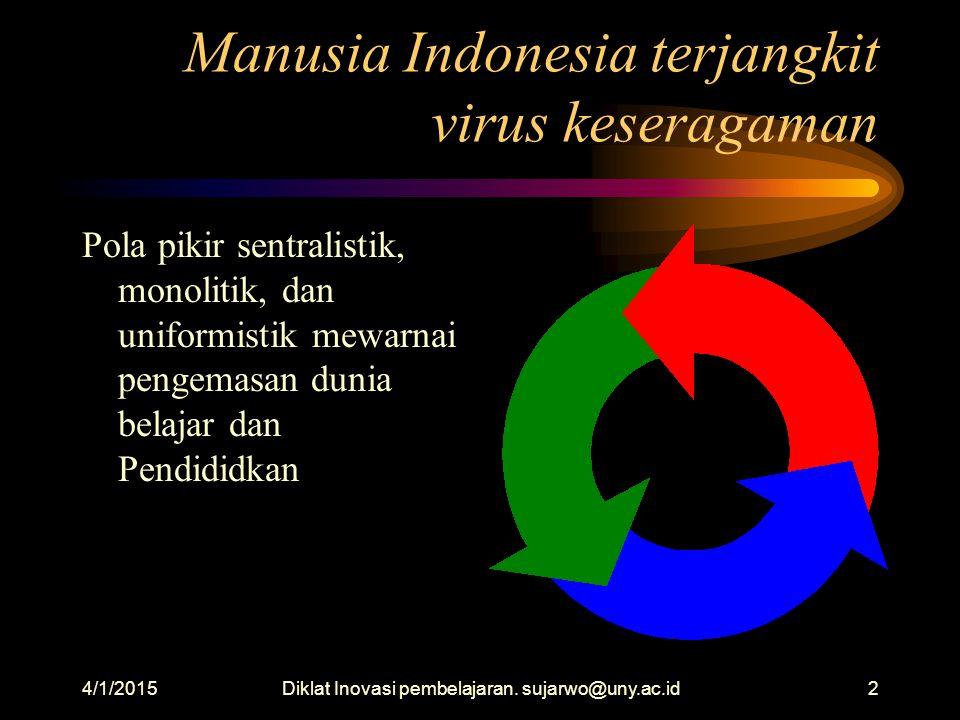 Manusia Indonesia terjangkit virus keseragaman