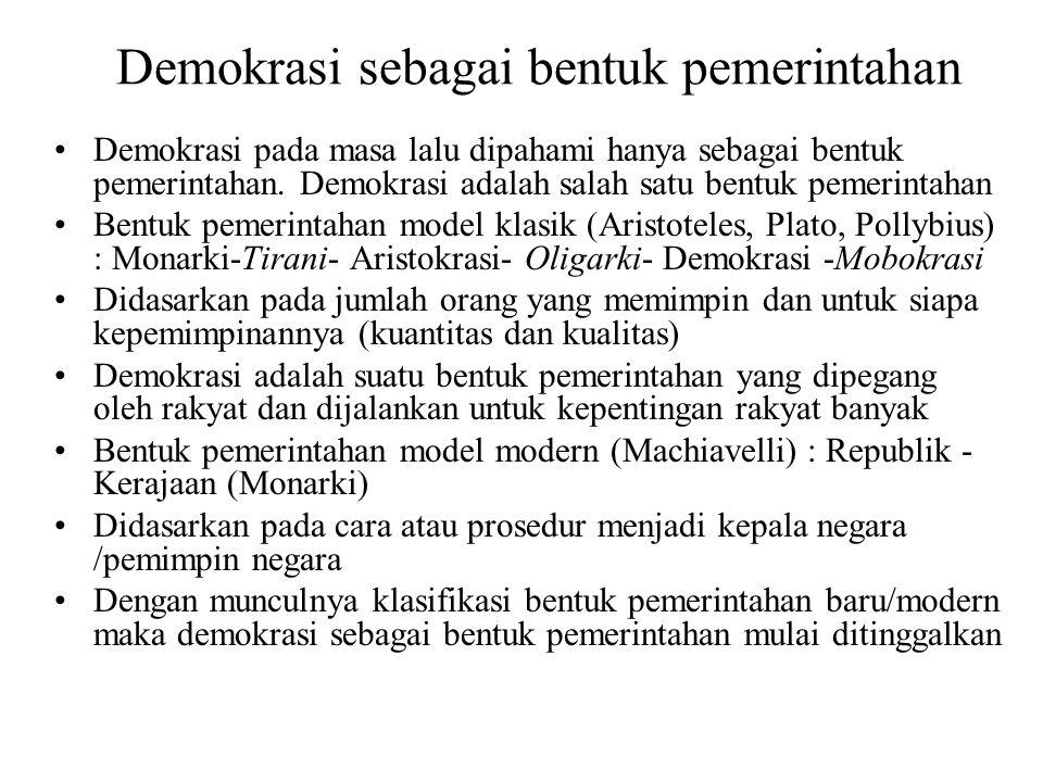 Demokrasi sebagai bentuk pemerintahan