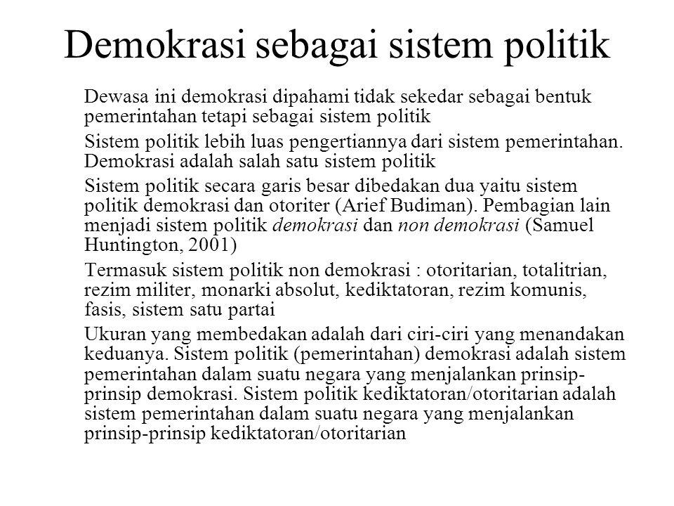 Demokrasi sebagai sistem politik