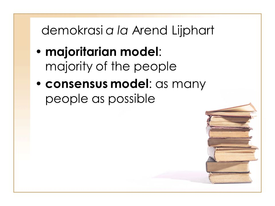 demokrasi a la Arend Lijphart