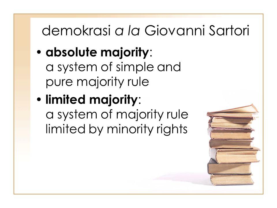 demokrasi a la Giovanni Sartori