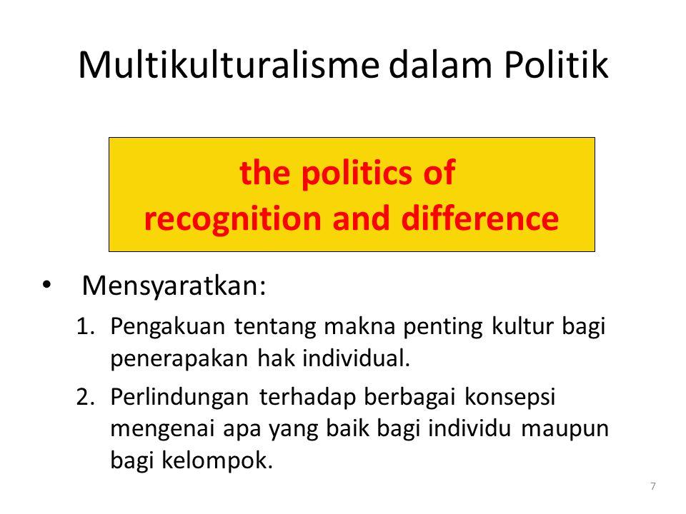 Multikulturalisme dalam Politik