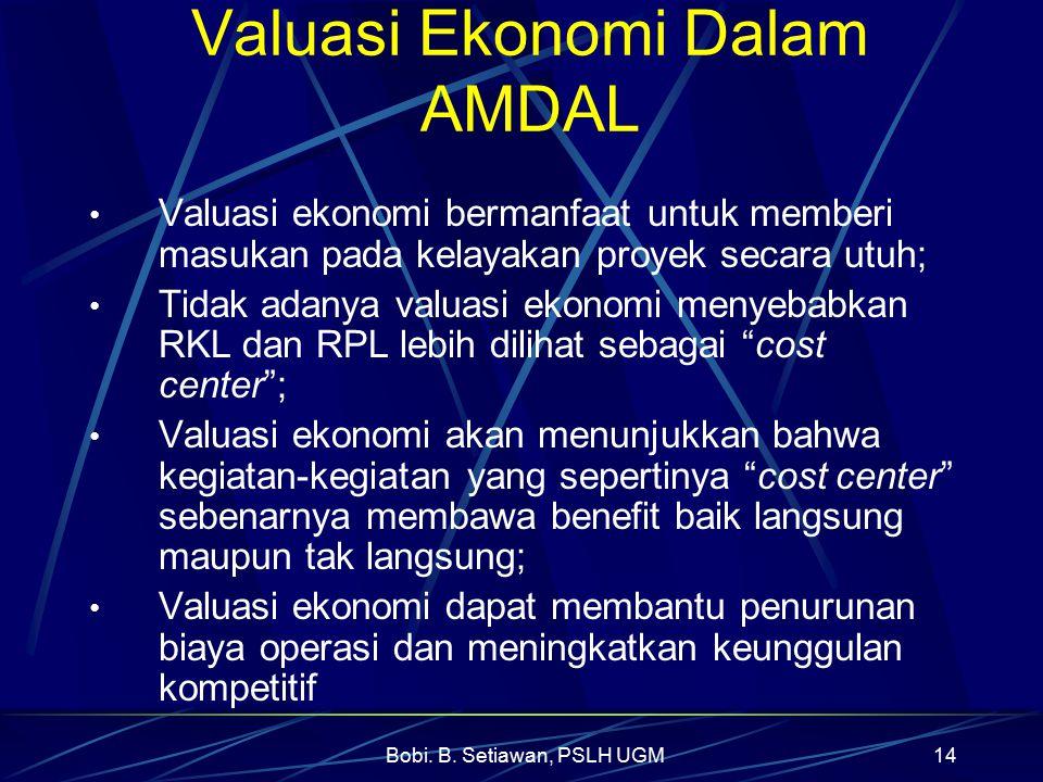 Valuasi Ekonomi Dalam AMDAL