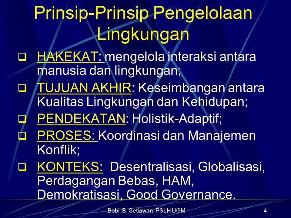Prinsip-Prinsip Pengelolaan Lingkungan