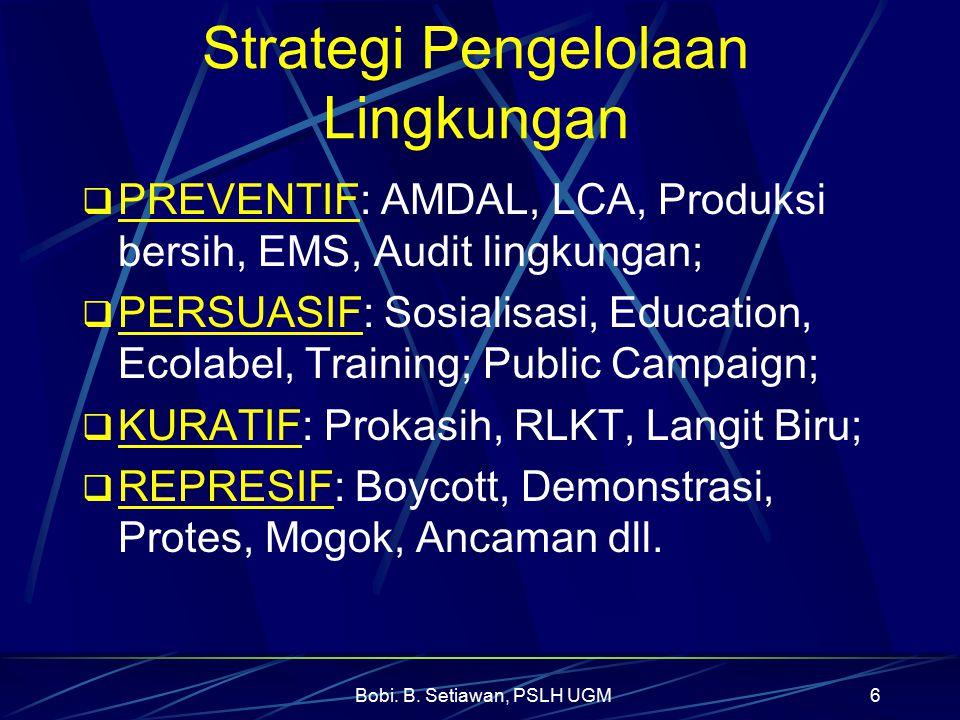 Strategi Pengelolaan Lingkungan