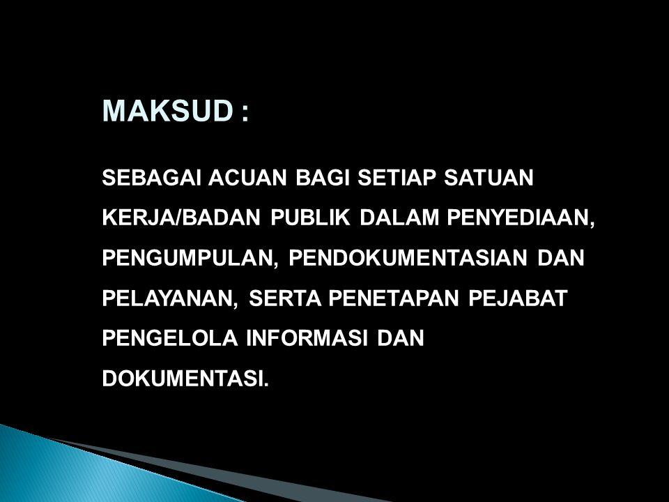 MAKSUD :