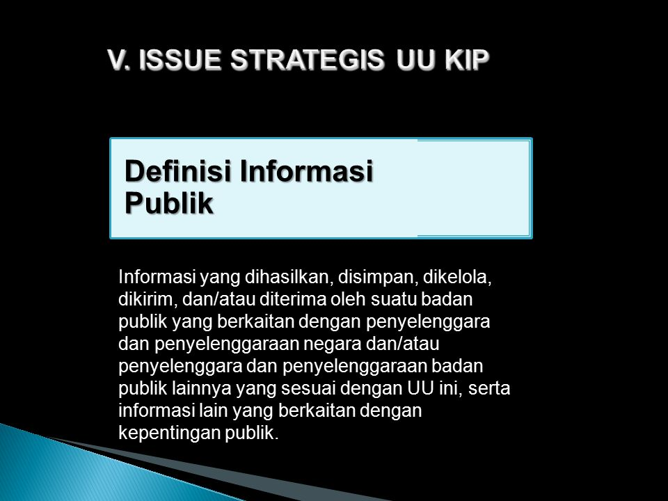 V. ISSUE STRATEGIS UU KIP