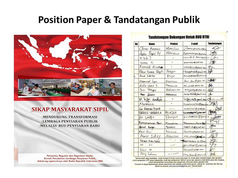 Position Paper & Tandatangan Publik