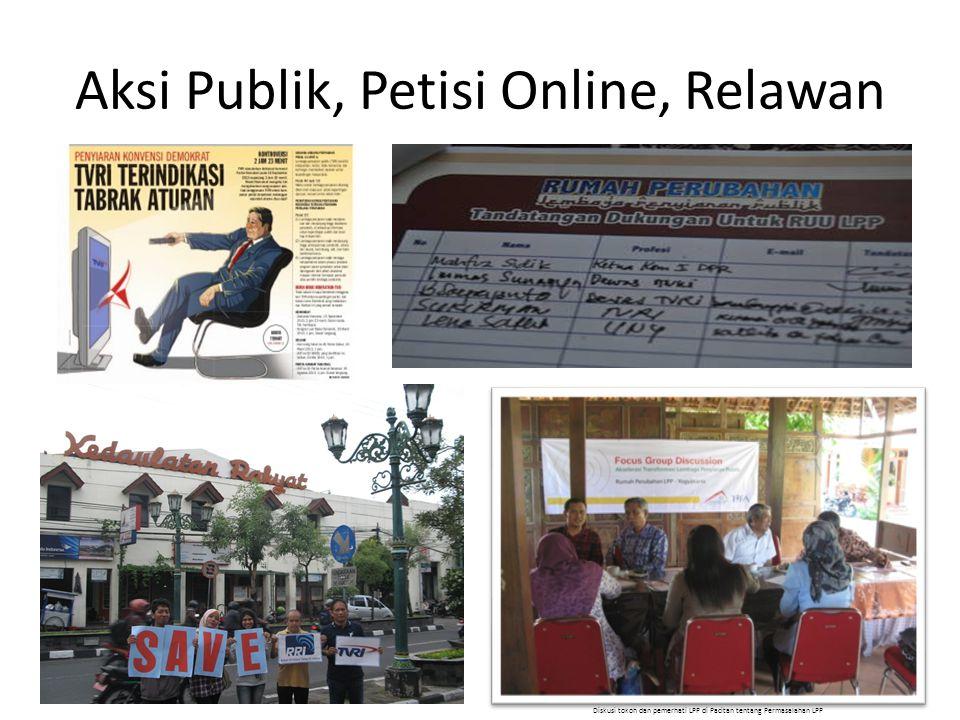 Aksi Publik, Petisi Online, Relawan