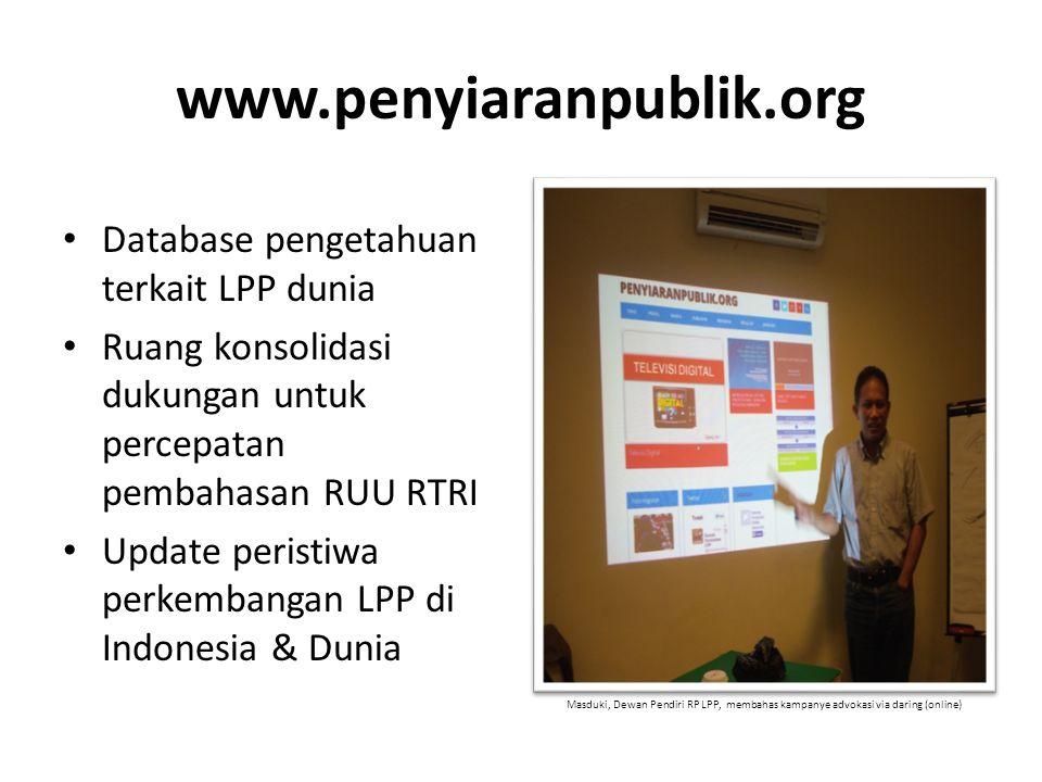 www.penyiaranpublik.org Database pengetahuan terkait LPP dunia