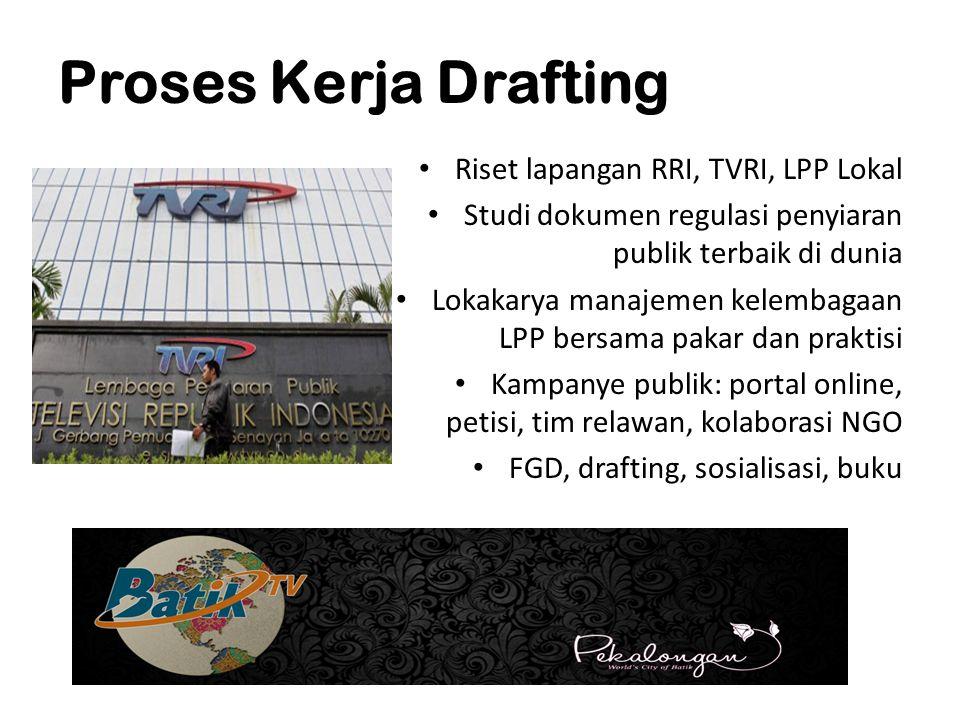 Proses Kerja Drafting Riset lapangan RRI, TVRI, LPP Lokal