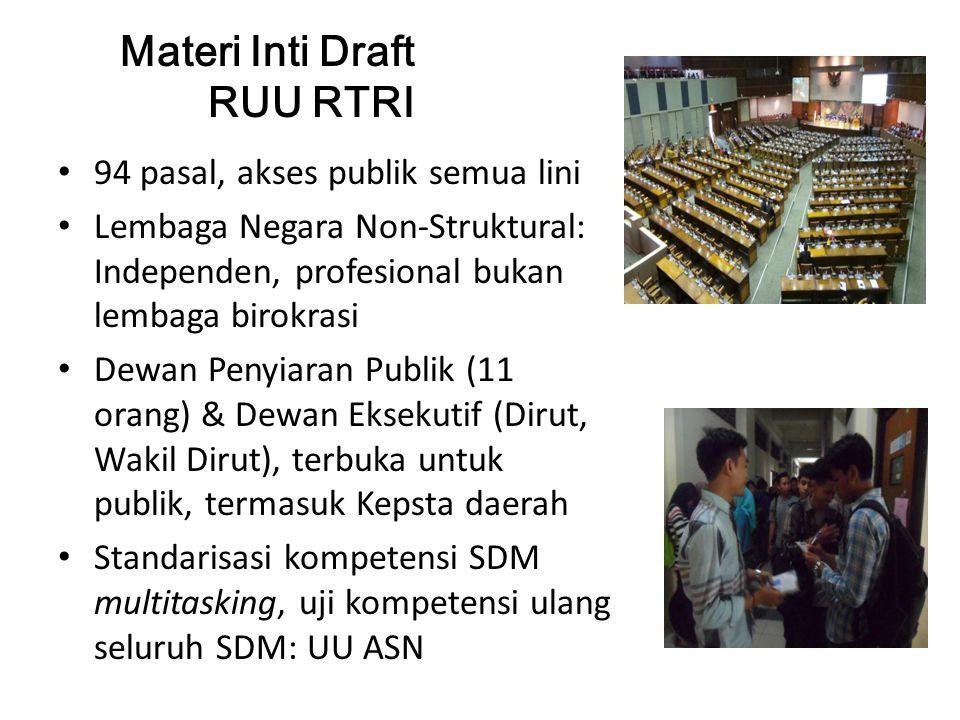 Materi Inti Draft RUU RTRI