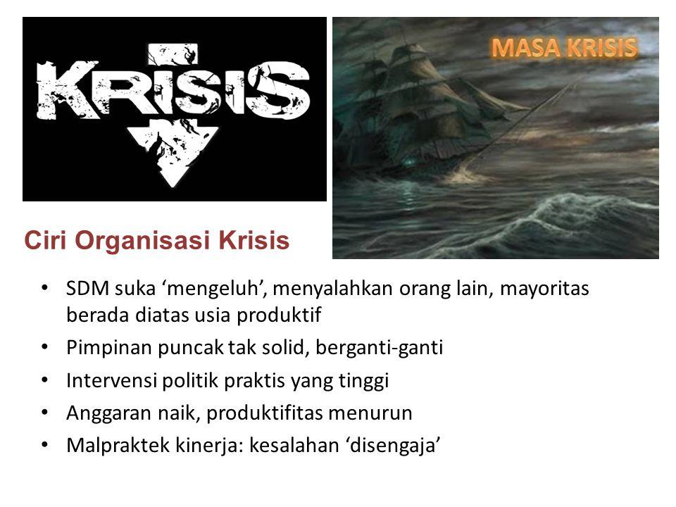 Ciri Organisasi Krisis