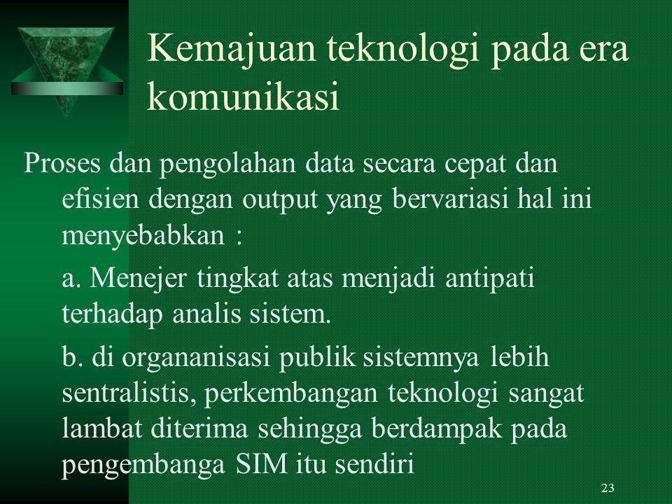 Kemajuan teknologi pada era komunikasi