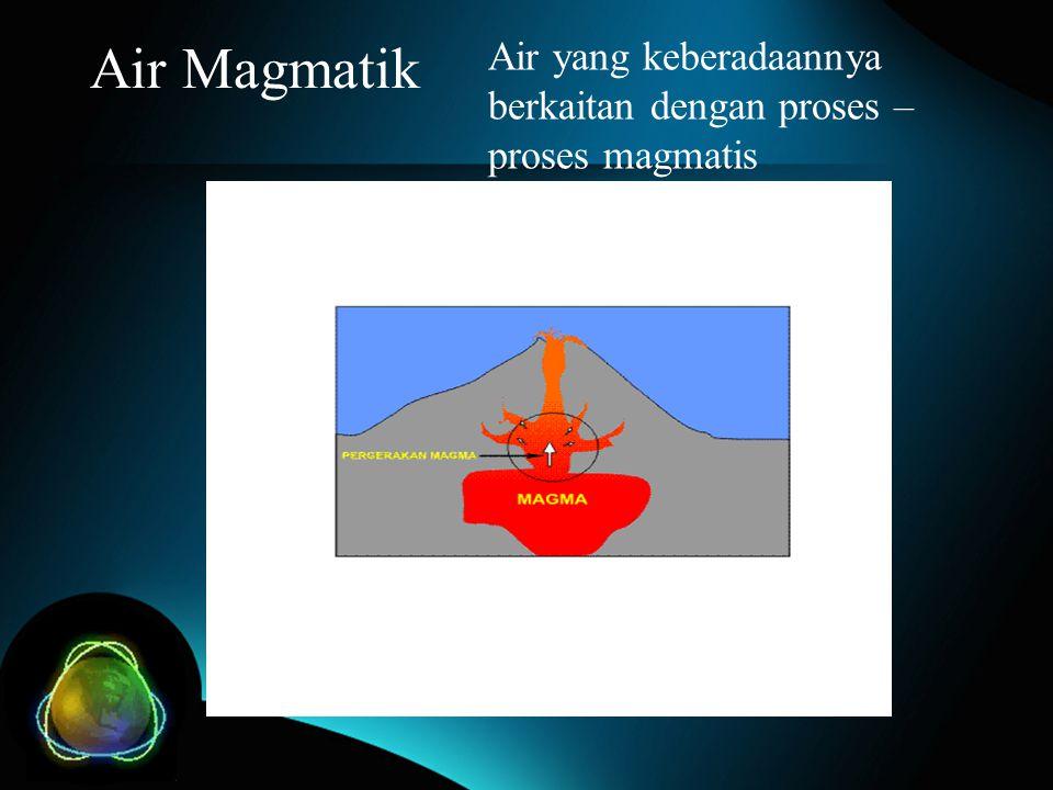 Air Magmatik Air yang keberadaannya berkaitan dengan proses – proses magmatis