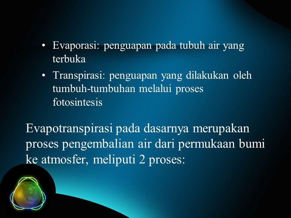 Evaporasi: penguapan pada tubuh air yang terbuka