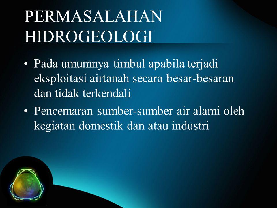 PERMASALAHAN HIDROGEOLOGI