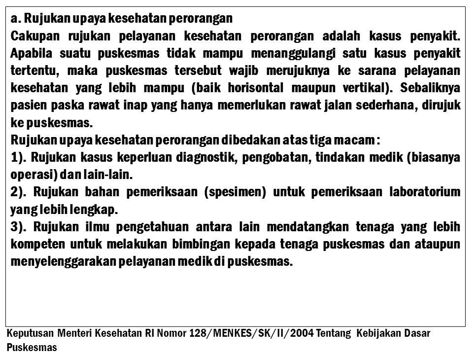 a. Rujukan upaya kesehatan perorangan
