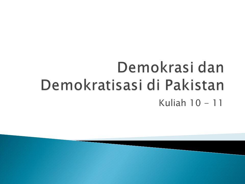 Demokrasi dan Demokratisasi di Pakistan