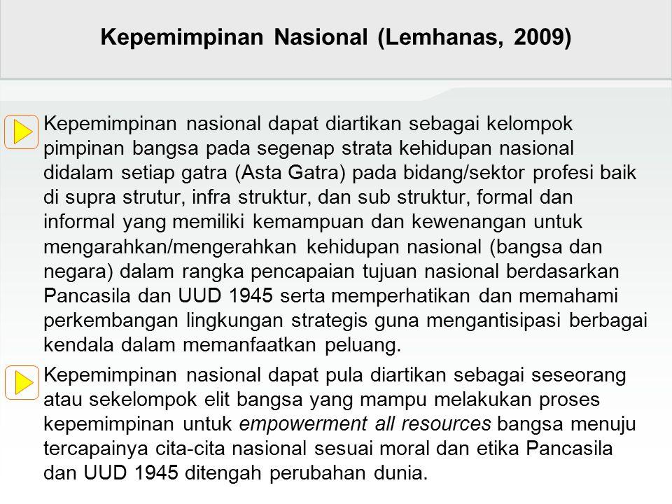 Kepemimpinan Nasional (Lemhanas, 2009)