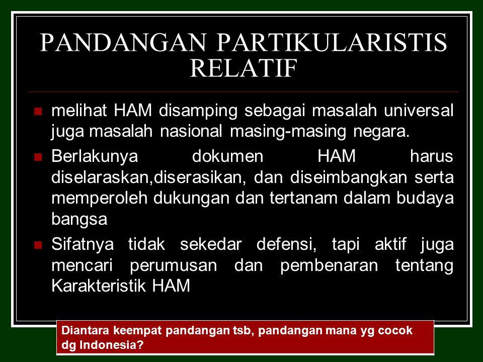 PANDANGAN PARTIKULARISTIS RELATIF