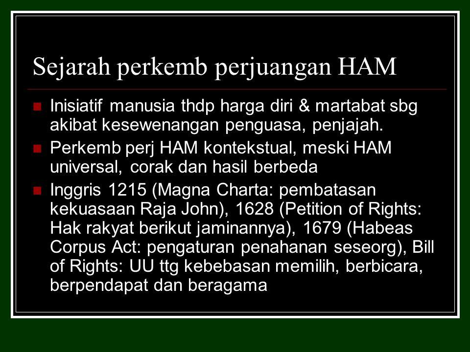 Sejarah perkemb perjuangan HAM