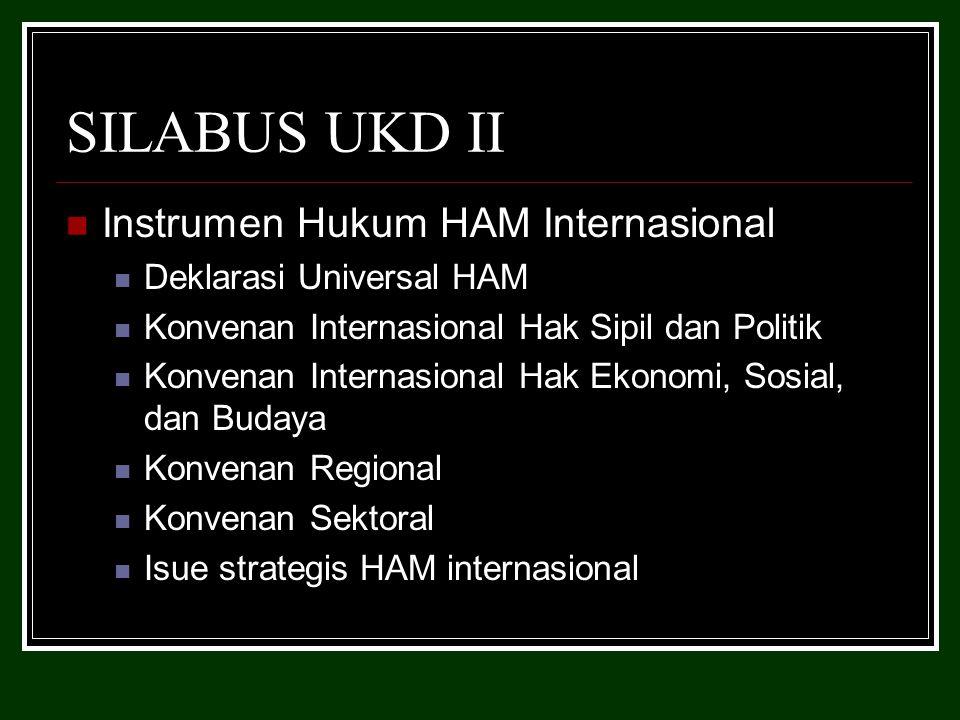 SILABUS UKD II Instrumen Hukum HAM Internasional