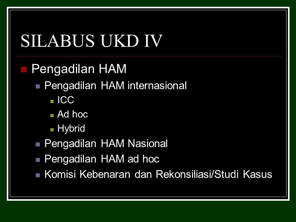 SILABUS UKD IV Pengadilan HAM Pengadilan HAM internasional