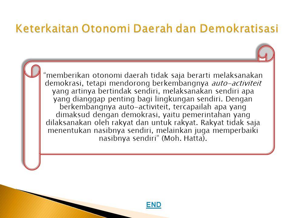 Keterkaitan Otonomi Daerah dan Demokratisasi