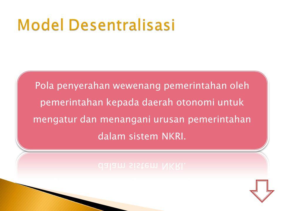 Model Desentralisasi