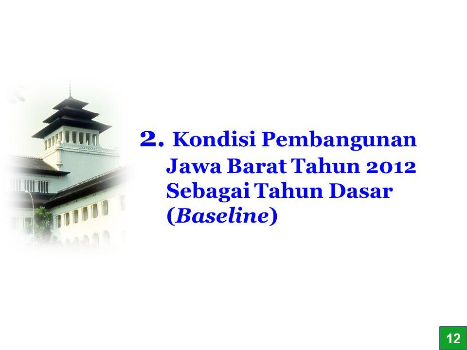 2. Kondisi Pembangunan Jawa Barat Tahun 2012 Sebagai Tahun Dasar (Baseline)