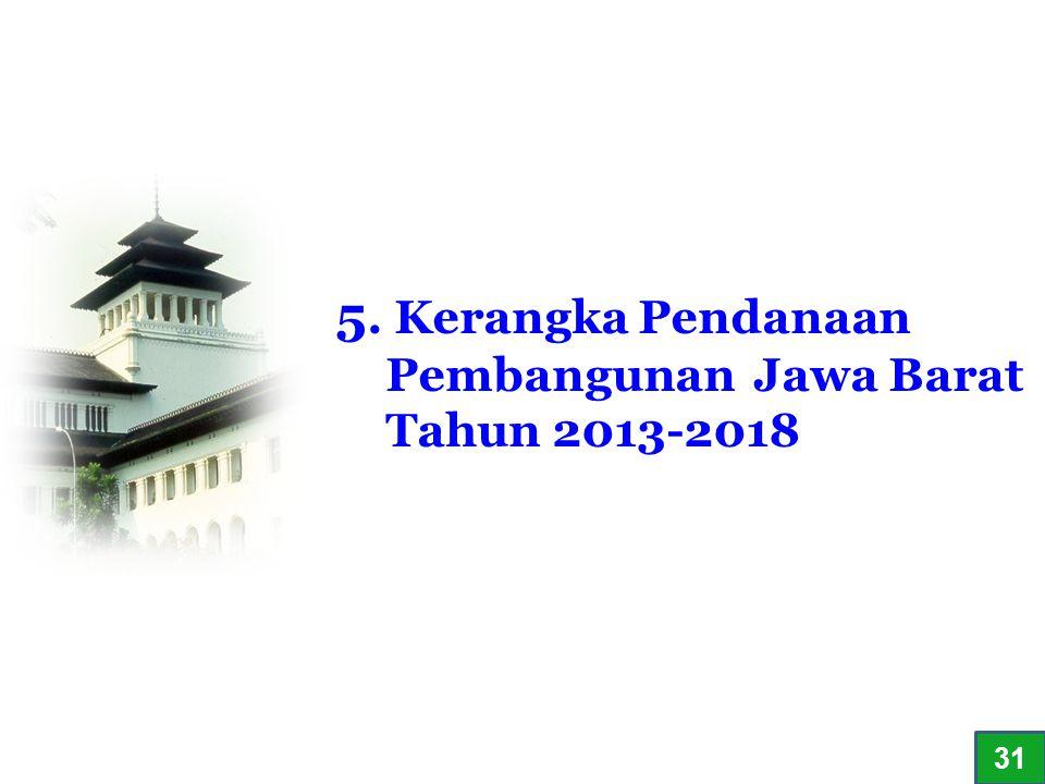5. Kerangka Pendanaan Pembangunan Jawa Barat Tahun 2013-2018