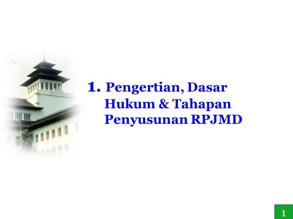 1. Pengertian, Dasar Hukum & Tahapan Penyusunan RPJMD