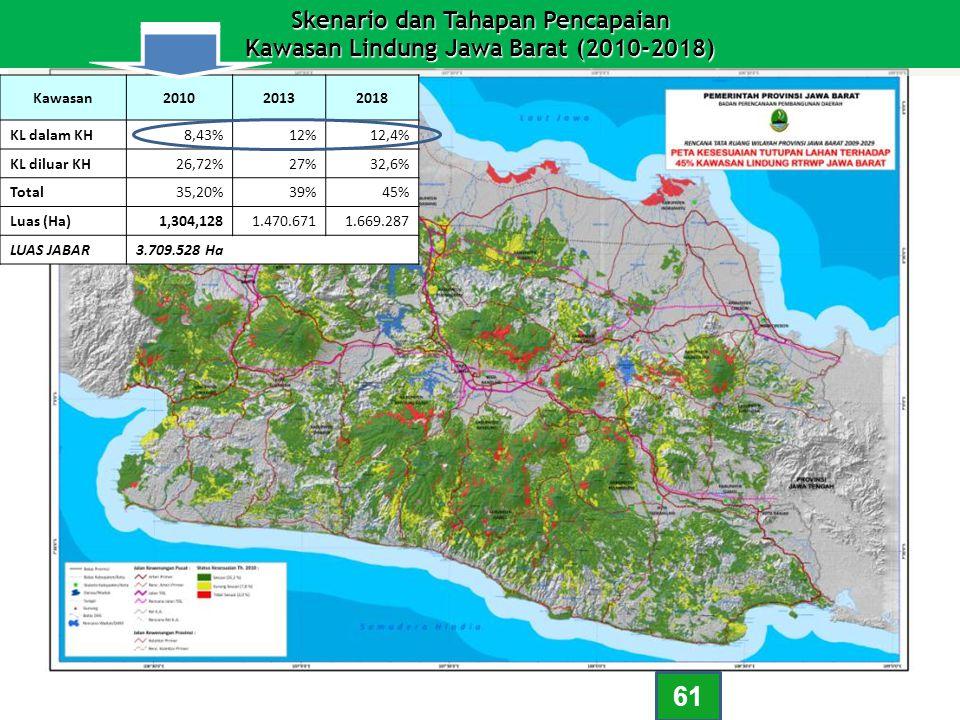 Skenario dan Tahapan Pencapaian Kawasan Lindung Jawa Barat (2010-2018)