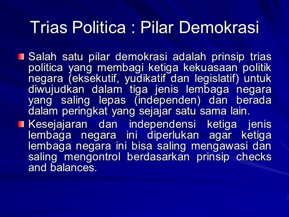 Trias Politica : Pilar Demokrasi