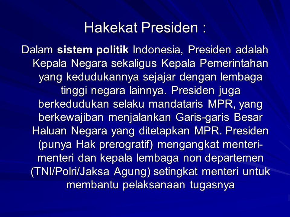 Hakekat Presiden :