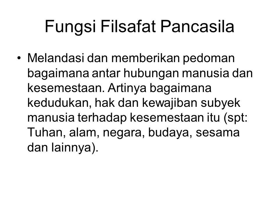 Fungsi Filsafat Pancasila
