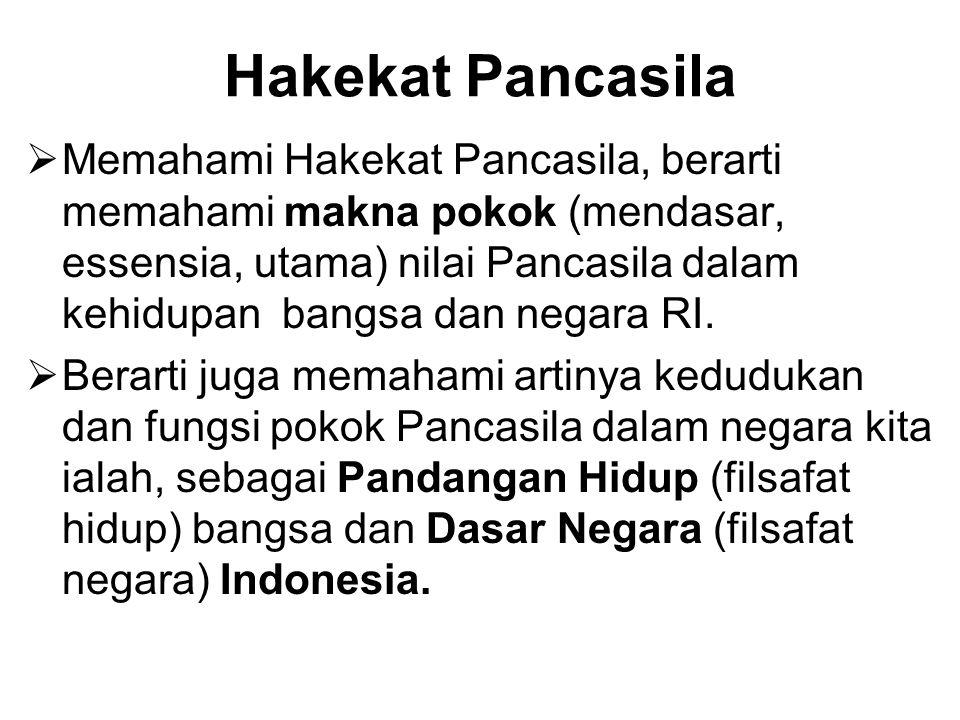 Hakekat Pancasila