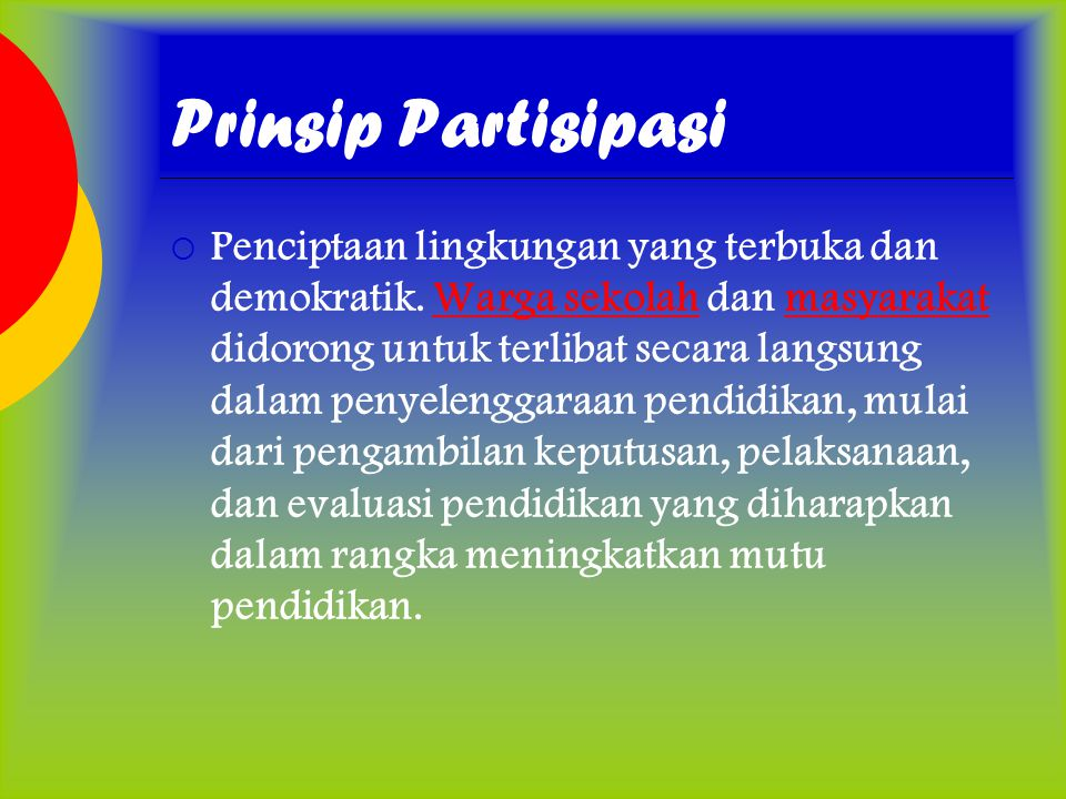 Prinsip Partisipasi