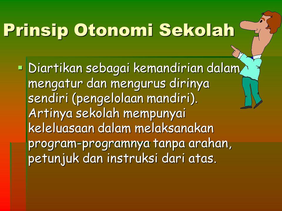 Prinsip Otonomi Sekolah