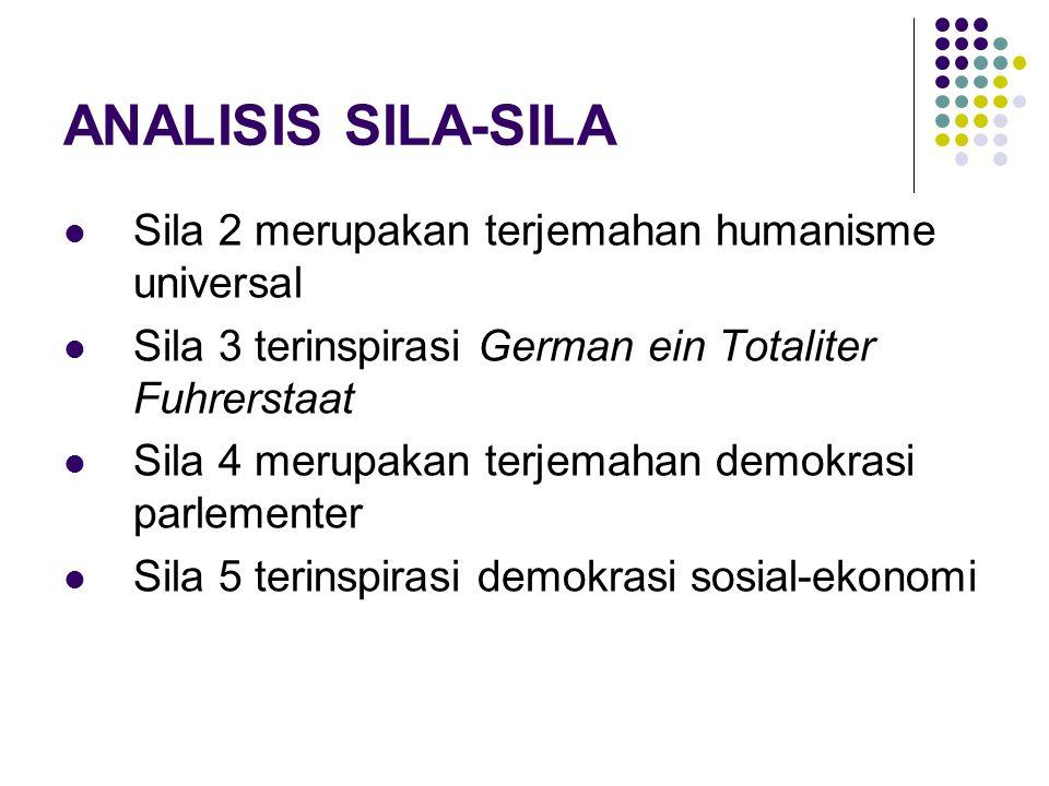 ANALISIS SILA-SILA Sila 2 merupakan terjemahan humanisme universal
