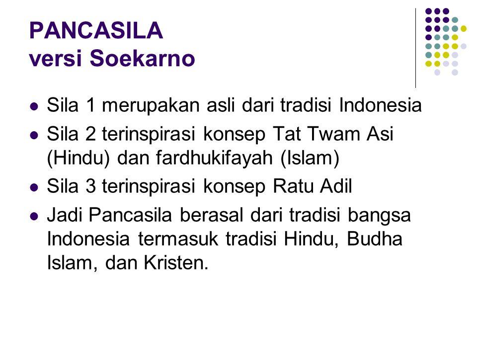 PANCASILA versi Soekarno