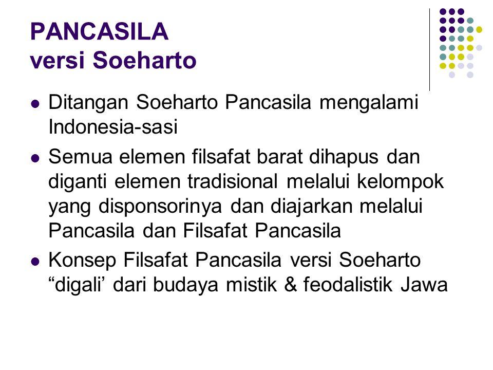 PANCASILA versi Soeharto