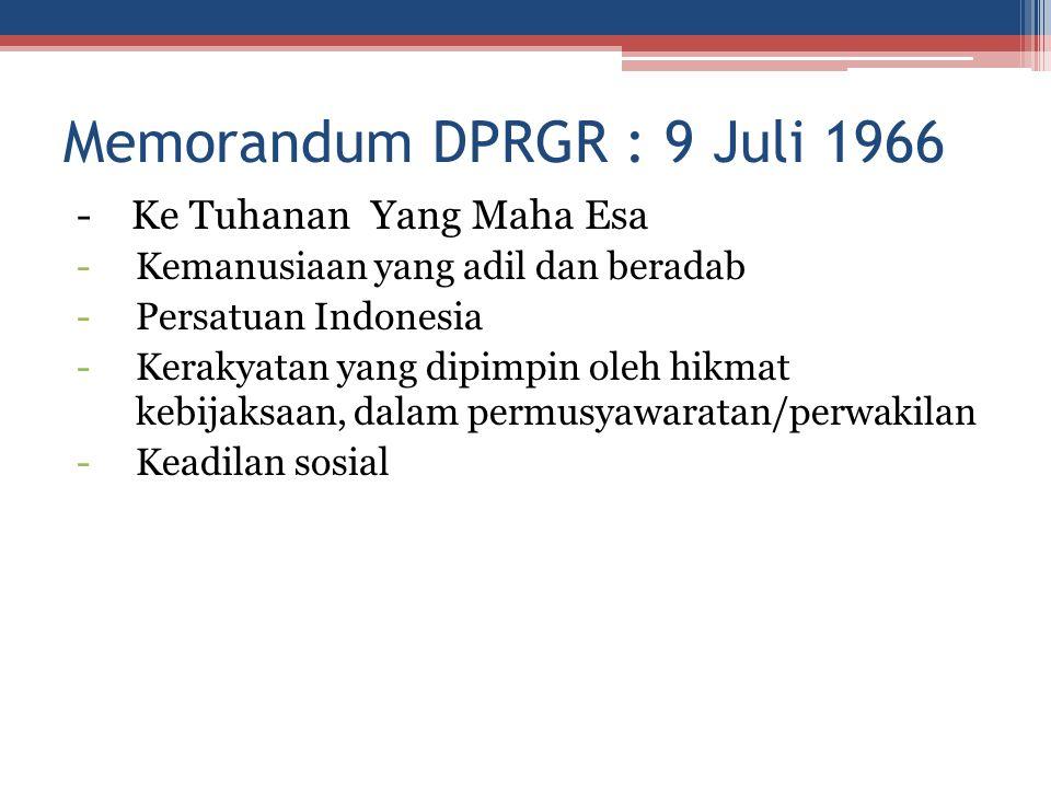 Memorandum DPRGR : 9 Juli 1966