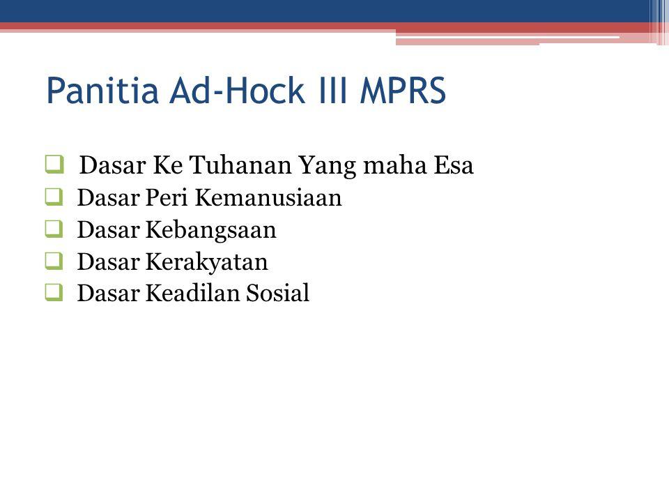Panitia Ad-Hock III MPRS