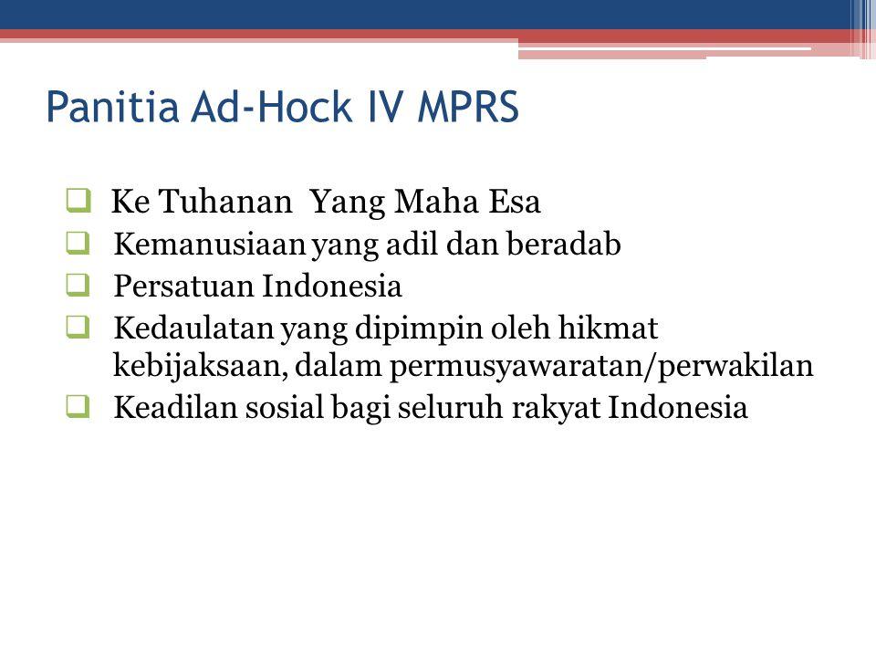 Panitia Ad-Hock IV MPRS