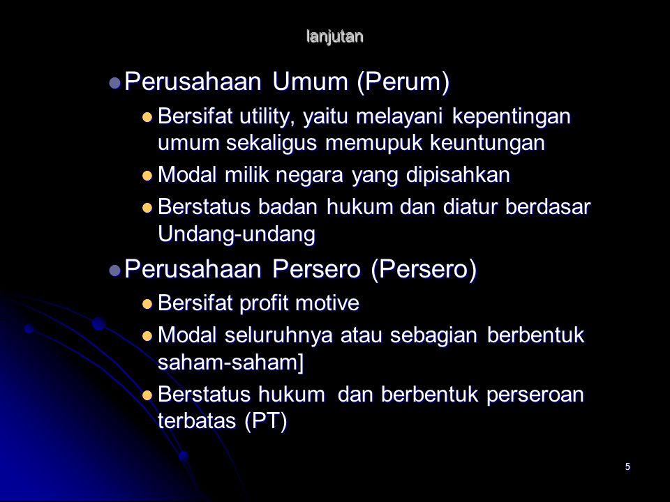 Perusahaan Umum (Perum)