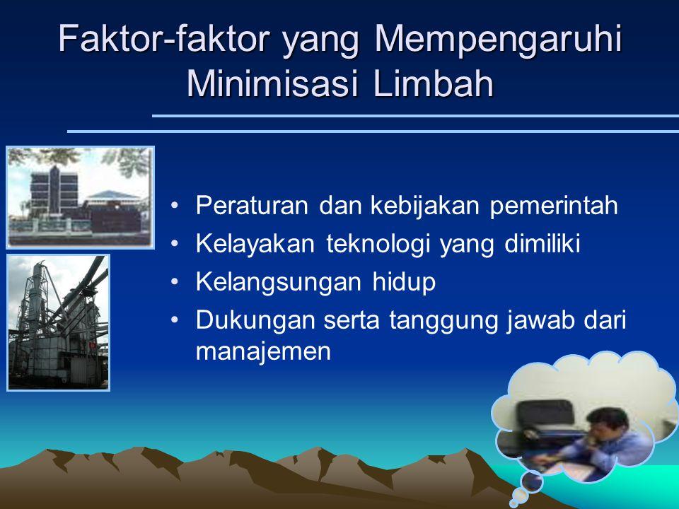 Faktor-faktor yang Mempengaruhi Minimisasi Limbah